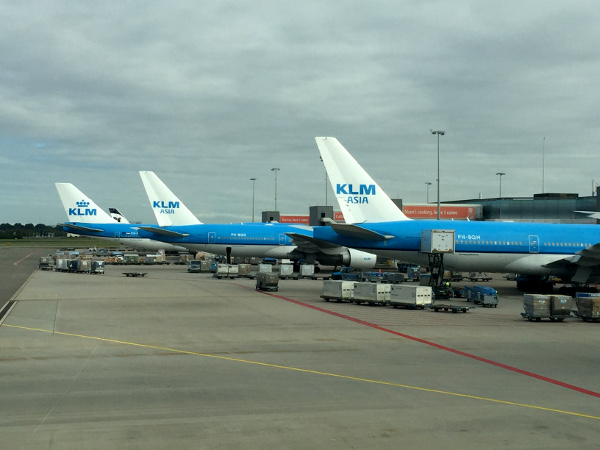 Fotos de Amsterdam, aviones de KLM