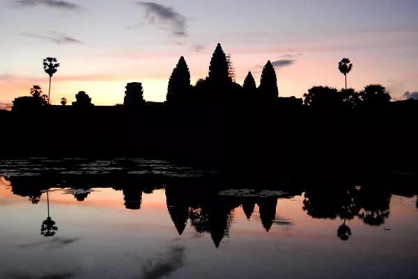 Fotos de Angkor, amanecer en Angkor Wat