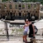 Fotos de Atenas en Grecia, selfie Teatro de Dioniso