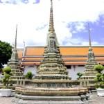 Fotos de Bangkok, Wat Pho estupas decoradas