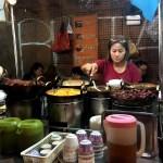Fotos de Bangkok. Qué comer, puesto de Chinatown