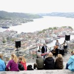 Fotos de Bergen, Monte Floyen vistas y músicos