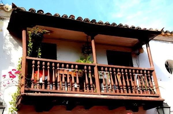 Fotos de Cartagena de Indias, balcones coloniales