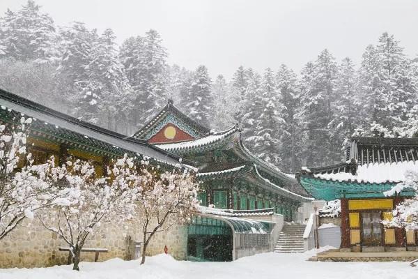 Fotos de Corea, templo Odaesan Woljeongsa en Pyeongchang
