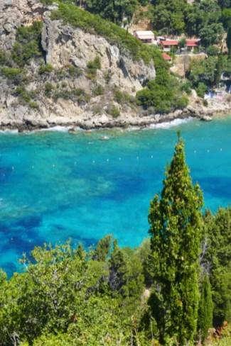 Fotos de Corfu en Grecia, playas desde Palaiokastritsa