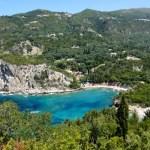 Fotos de Corfu en Grecia, playas y calas Palaiokastritsa
