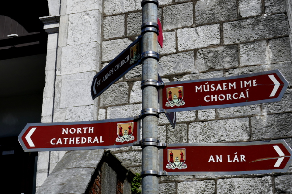 Fotos de Cork en Irlanda, señales