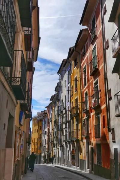 Fotos de Cuenca, Casas de colores Alfonso VIII