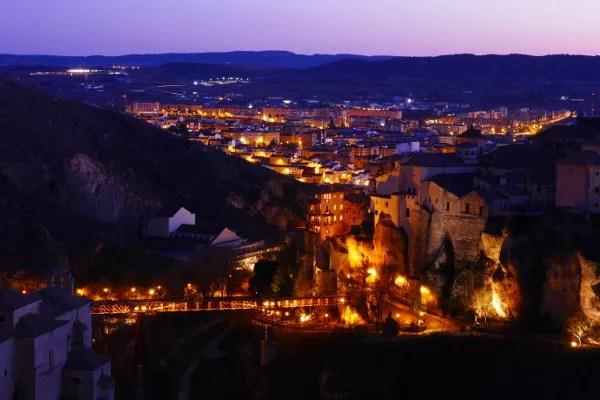 Fotos de Cuenca, atardecer desde el mirador del Castillo