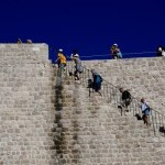 Fotos de Dubrovnik en Croacia, subiendo a las murallas