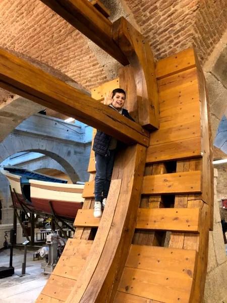 Fotos de Ferrol en Galicia, Teo en el Museo de la Cosntruccion Naval