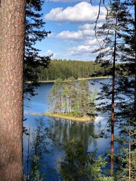 Fotos de Finlandia, paisaje de la region de los Mil Lagos