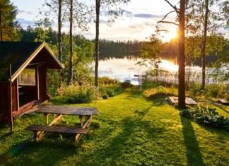 Fotos de Finlandia, sol de medianoche Mil Lagos