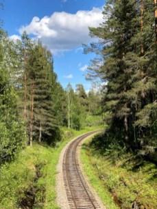 Fotos de Finlandia, vias de tren en la region de los Mil Lagos