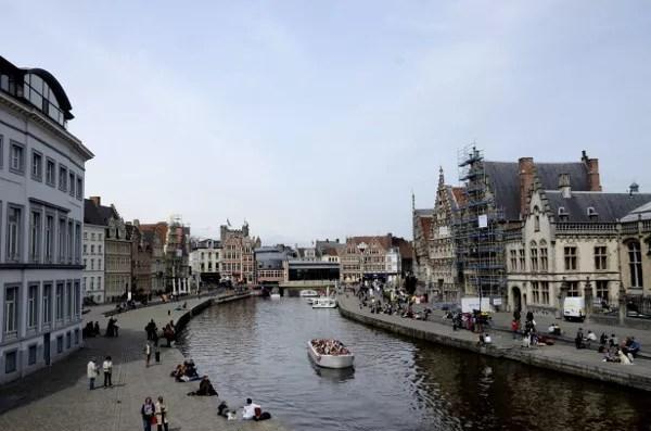 Fotos de Gante en Flandes, Graslei