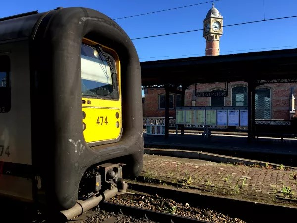 Fotos de Gante en Flandes, estación de tren