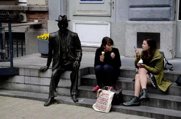 Fotos de Gante en Flandes, estudiantes
