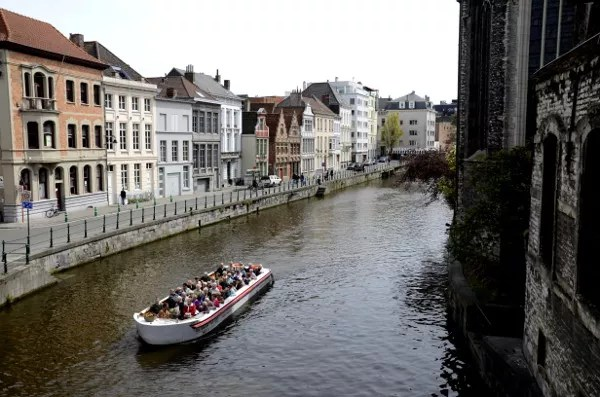 Fotos de Gante en Flandes, paseo en barco
