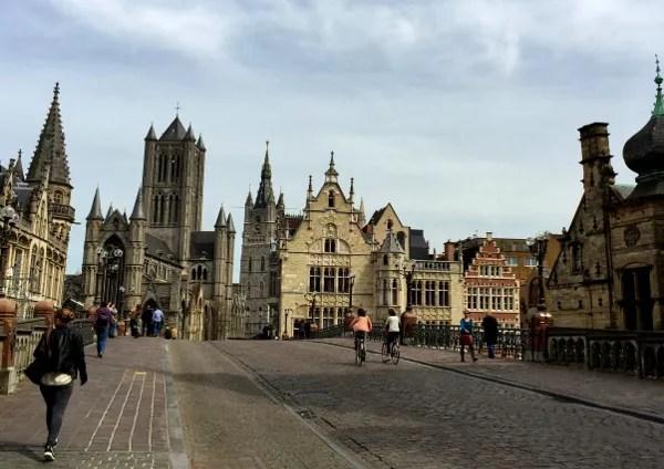 Fotos de Gante en Flandes, puente de San Miguel