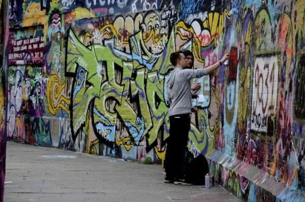 Fotos de Gante, ruta street callejon graffiti