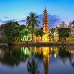 Fotos de Hanoi en Vietnam, pagoda de Tran Quoc