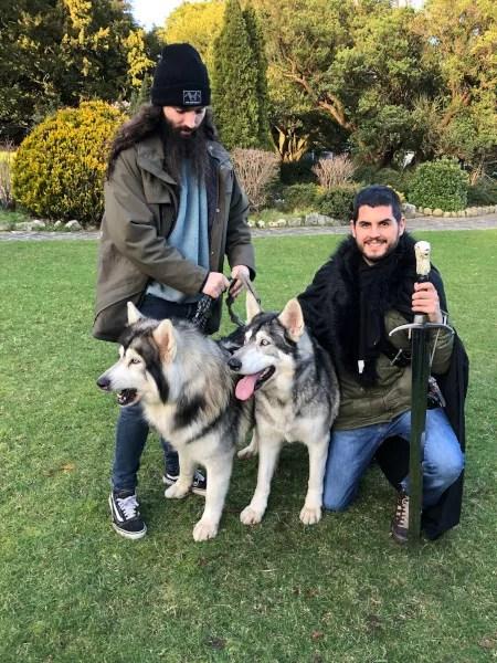 Fotos de Irlanda del Norte, Pay y los perros en el Parque Forestal de Tollymore