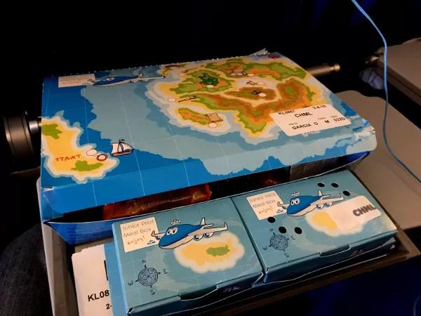 Fotos de Japon, menu infantil de KLM