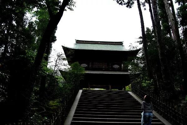 Fotos de Kamakura en Japon, Vero subiendo las escaleras del Engaku-ji