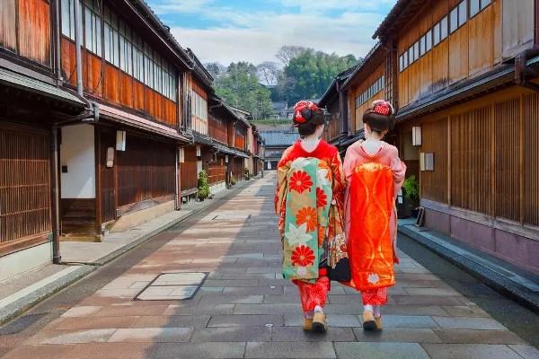 Fotos de Kanazawa en Japón, Geishas en el Higashi-Chaya-gai