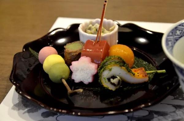 Fotos de Kioto en Japon, cocina kaiseki