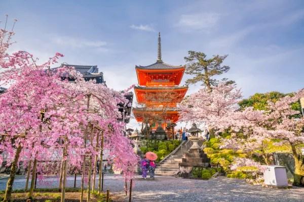 Fotos de Kioto en Japon, pagoda de Kiyomizu-dera
