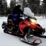 Fotos de Laponia Finlandesa, excursion de motos de nieve