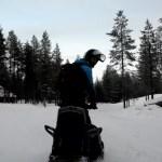 Fotos de Laponia Finlandesa, safari de motos de nieve