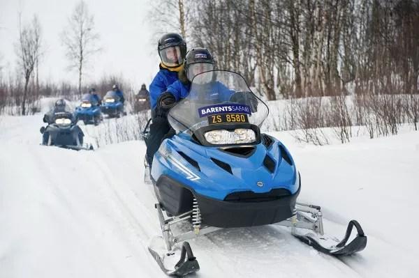Fotos de Laponia Noruega, safari con motos de nieve