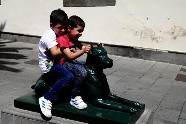 Fotos de Las Palmas de Gran Canaria, Teo y Oriol perro