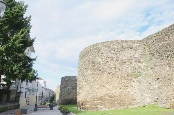 Fotos de Lugo, exterior de la Muralla Romana