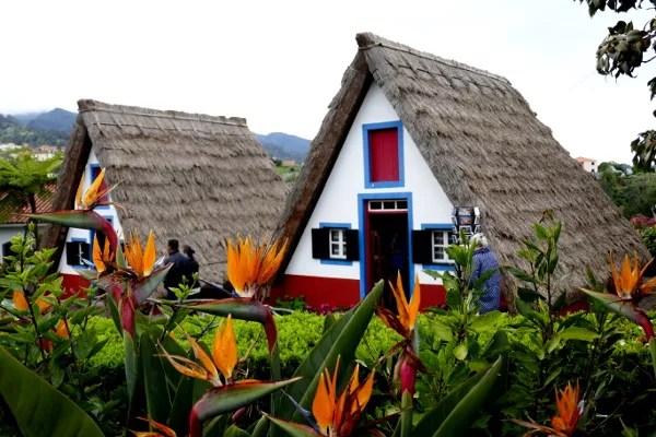 Fotos de Madeira, casas tipicas de Santana