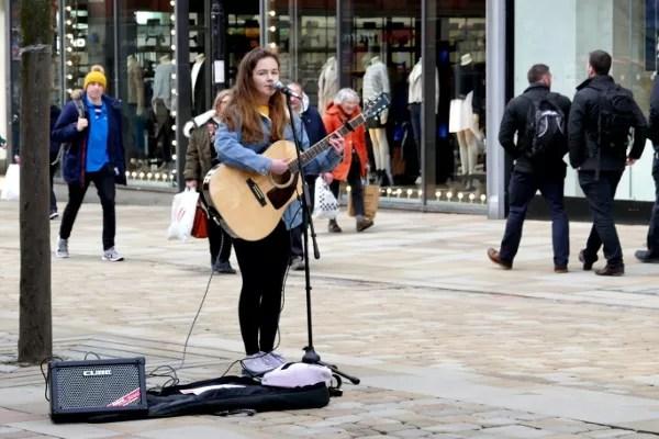 Fotos de Manchester, musica en la calle