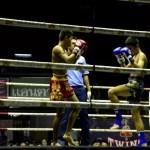 Fotos de Muai Thai en Bangkok, posicion de combate