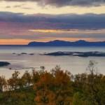 Fotos de Noruega Artica, atardecer cerca de Harstad