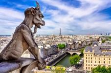Fotos de Paris, gargola en la Catedral de Notre Dame