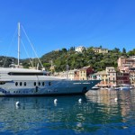 Fotos de Portofino en Italia, yates en el puerto