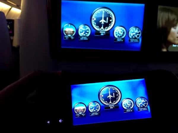 Fotos de Qatar Airways, pantallas dle sistema de entretenimiento