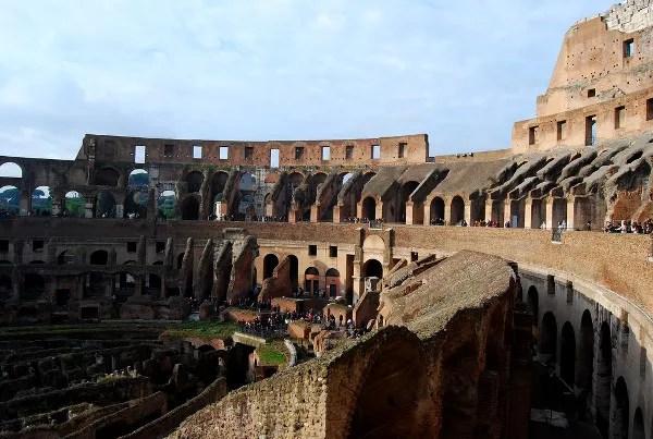 Fotos de Roma, interior del Coliseo
