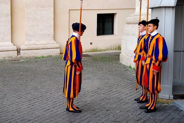 Fotos de Roma, la guardia suiza