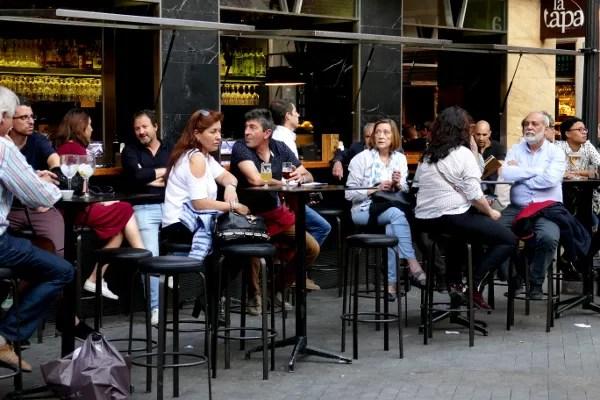 Fotos de Semana Santa de Murcia, ambiente de las terrazas