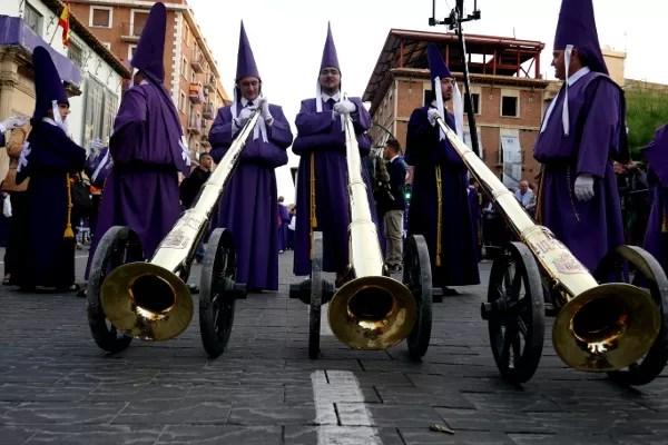 Fotos de Semana Santa de Murcia, salzillos trompetas