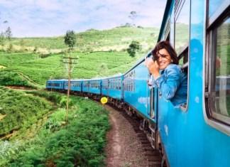 Fotos de Sri Lanka, tren de las montañas