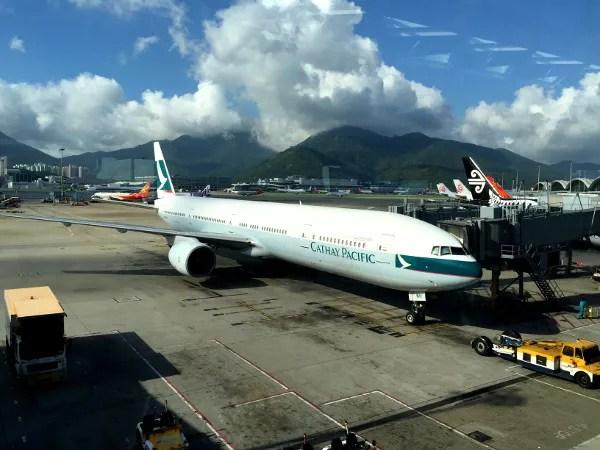 Fotos de Tailandia, vuelo de Cathay Pacific