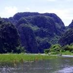 Fotos de Tam Coc en Vietnam, barcazas regresando